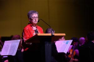 BCSA Chairperson, Pat Chavez - pre-concert announcements