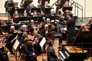 Maestro Geoffrey Pope leads BCSO & piano soloist Georji Slavchev