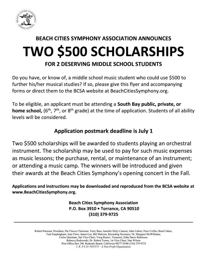 BCSO Scholarship Announcement
