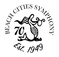 Beach Cities Symphony Orchestra 70th Logo
